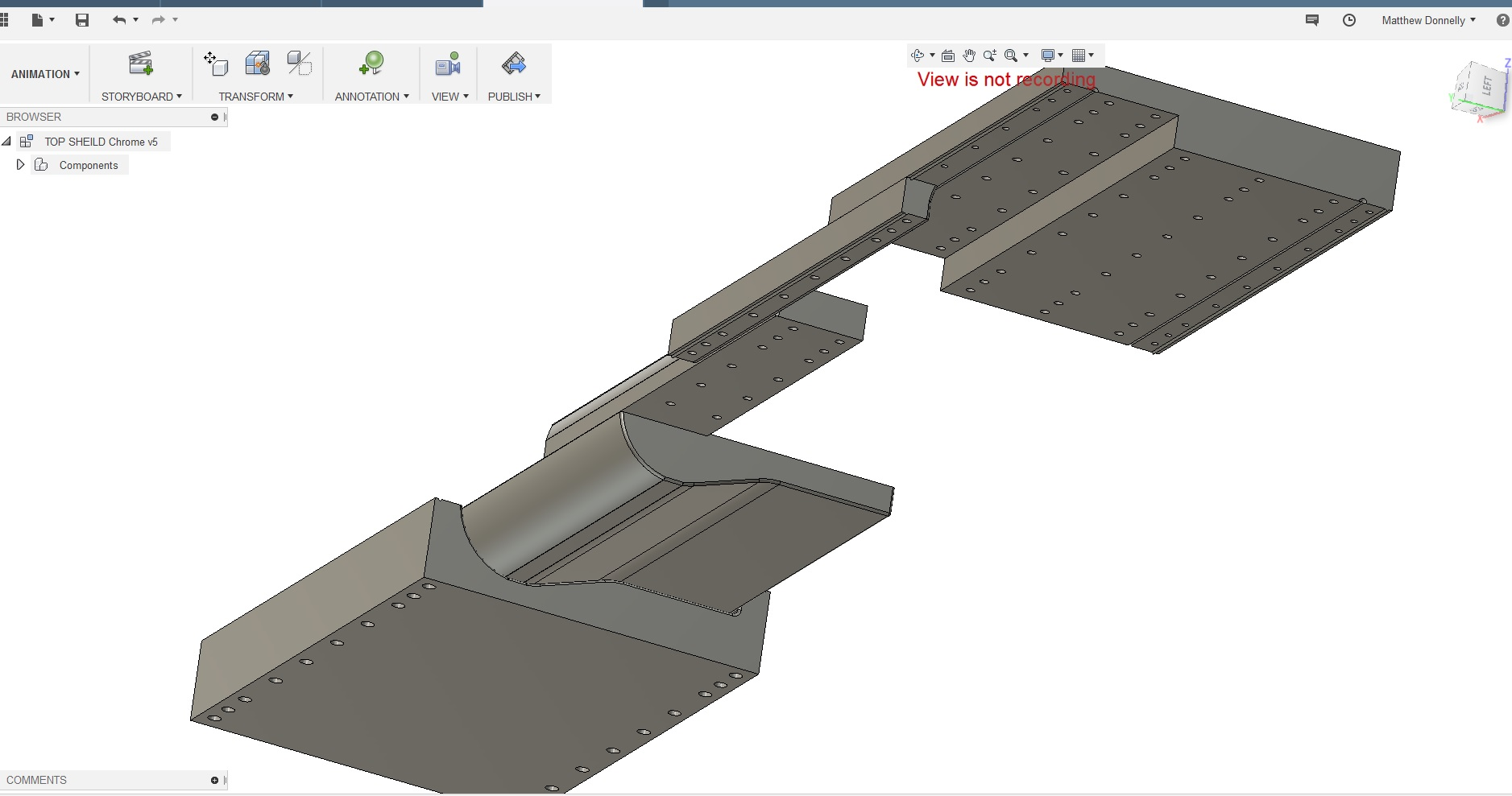 Extrusion Moulding Die CAD Design